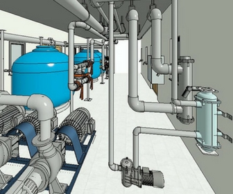 Baseinų įranga ir montavimas