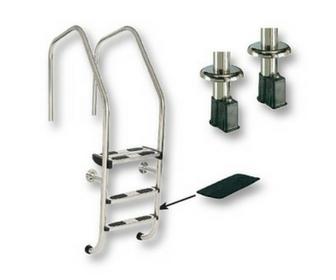 Baseinų kopėtėlės ir turėklai