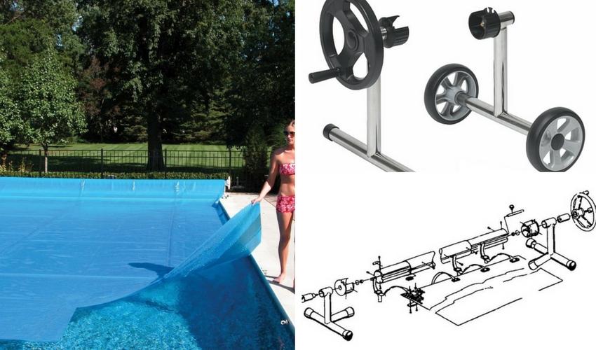 baseino plaukiojančios dangos susukimo mechanizmai