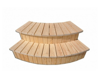 Mediniai praktiški kubilo laiptai
