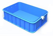Stačiakampis plastikinis baseinas