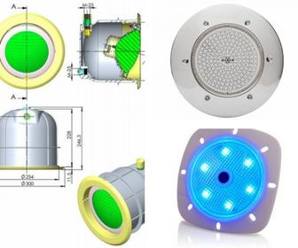 Baseinų halogeninis ir LED apšvietimas