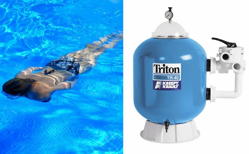 Baseino vandens filtro remontas ir keitimas