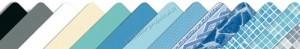 Baseinų plėvelė - danga. Alkorplan spalvų paletė